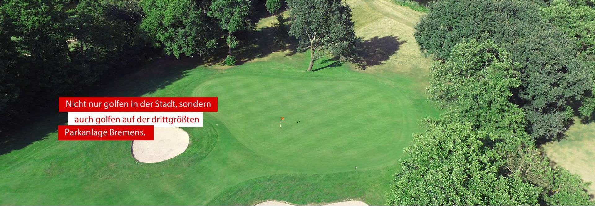 Golf in Bremens drittgrößter Parkanlage